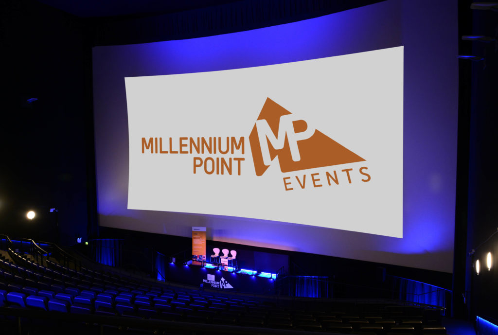 Large 350-seat auditorium with giant screen at Millennium Point Birmingham