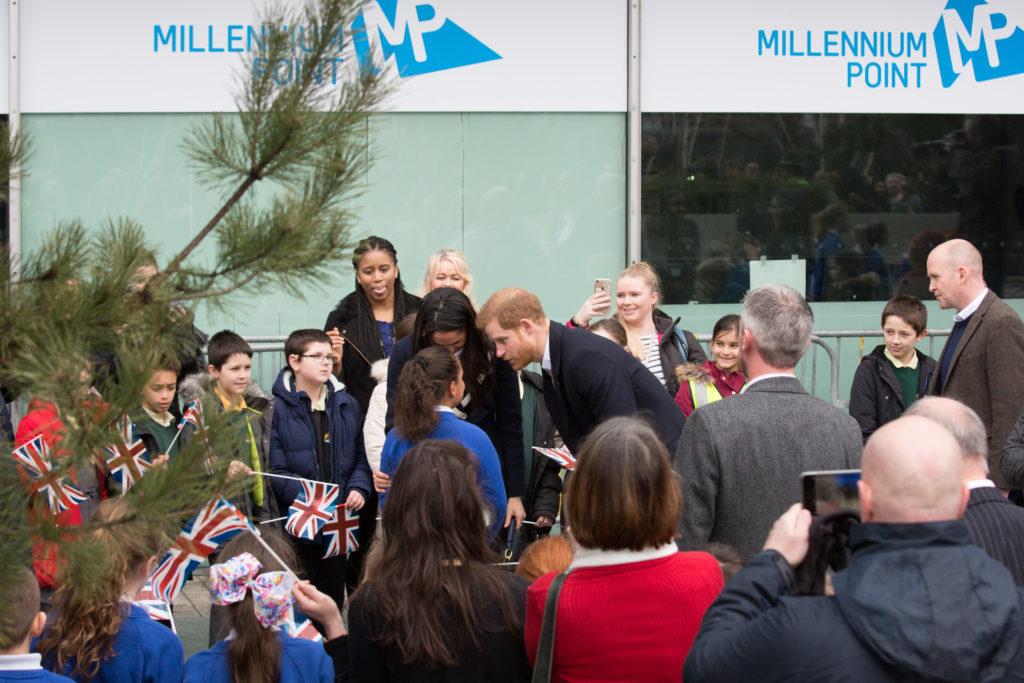 Prince Harry and Meghan Markle visit Millennium Point Birmingham