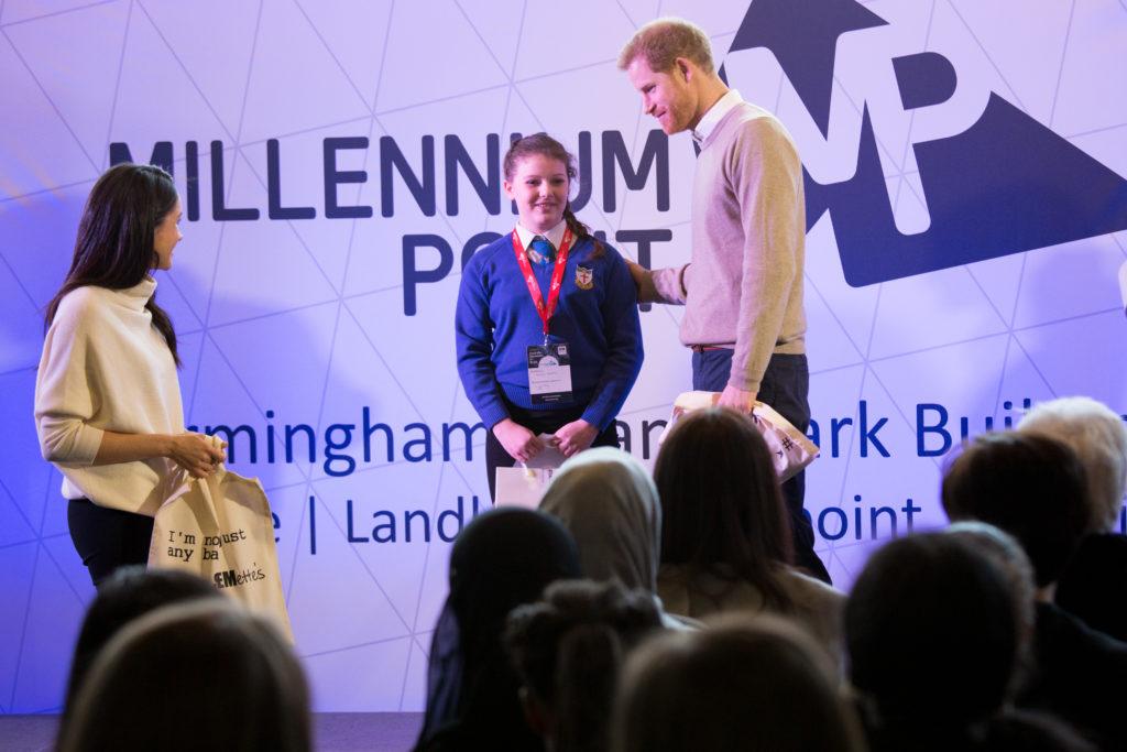 rince Harry and Meghan Markle Millennium Point Birmingham
